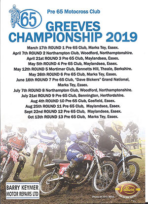 Greeves Championship 2019