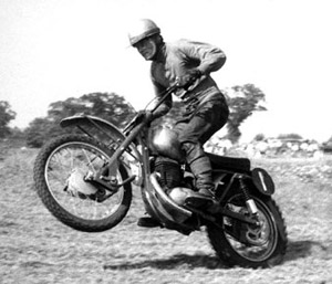 Dave Bickers aboard a Greeves MDS during 1960 at the former Shrubland Park circuit in Suffolk